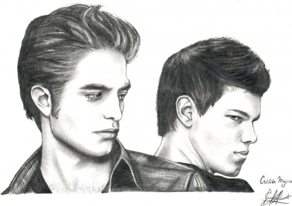 Taylor Lautner, Robert Pattinson por Cristian